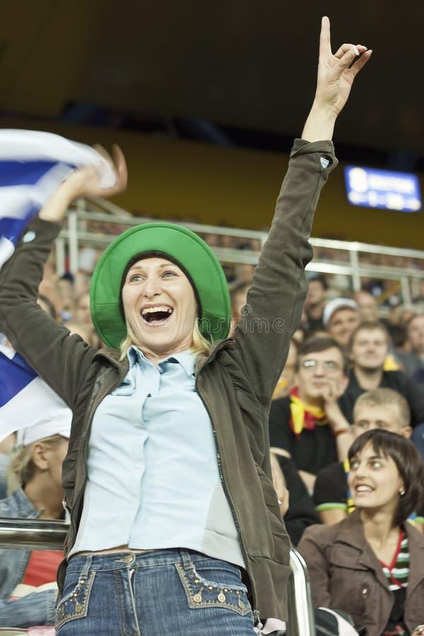 Uruguayan Football Female Fan Editorial Photo