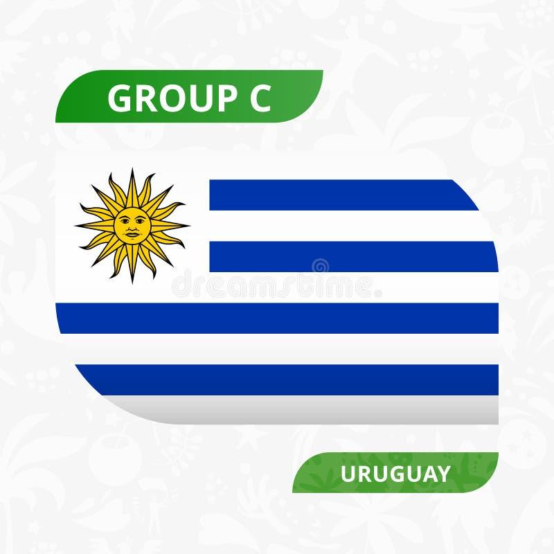 Uruguayansk lagflagga som göras i fotbollkonkurrensstil vektor illustrationer