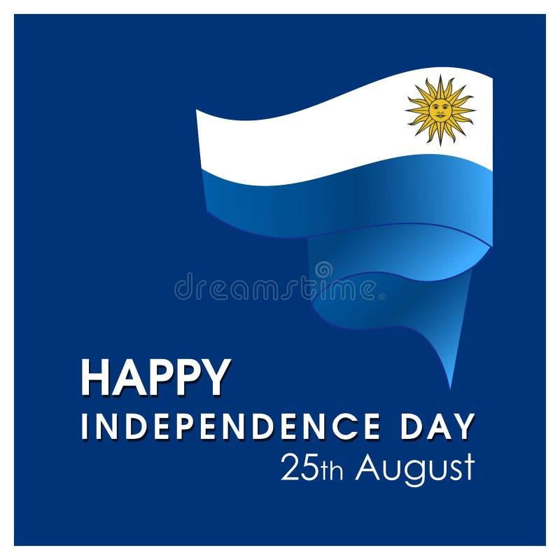 Urugwaj dnia niepodległości projekta karty wektor royalty ilustracja