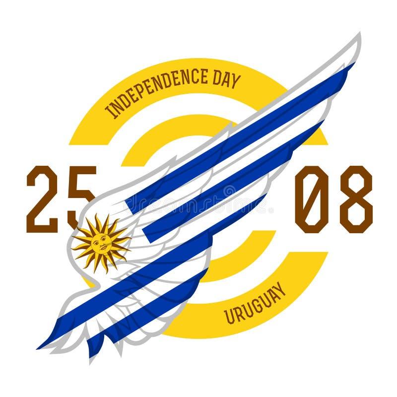 Urugwaj dzień niepodległości, 25 1825 Sierpień Sztandar lub plakat z ilustracja wektor