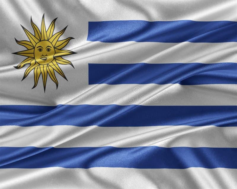 Urugwaj flaga z glansowaną jedwabniczą teksturą royalty ilustracja