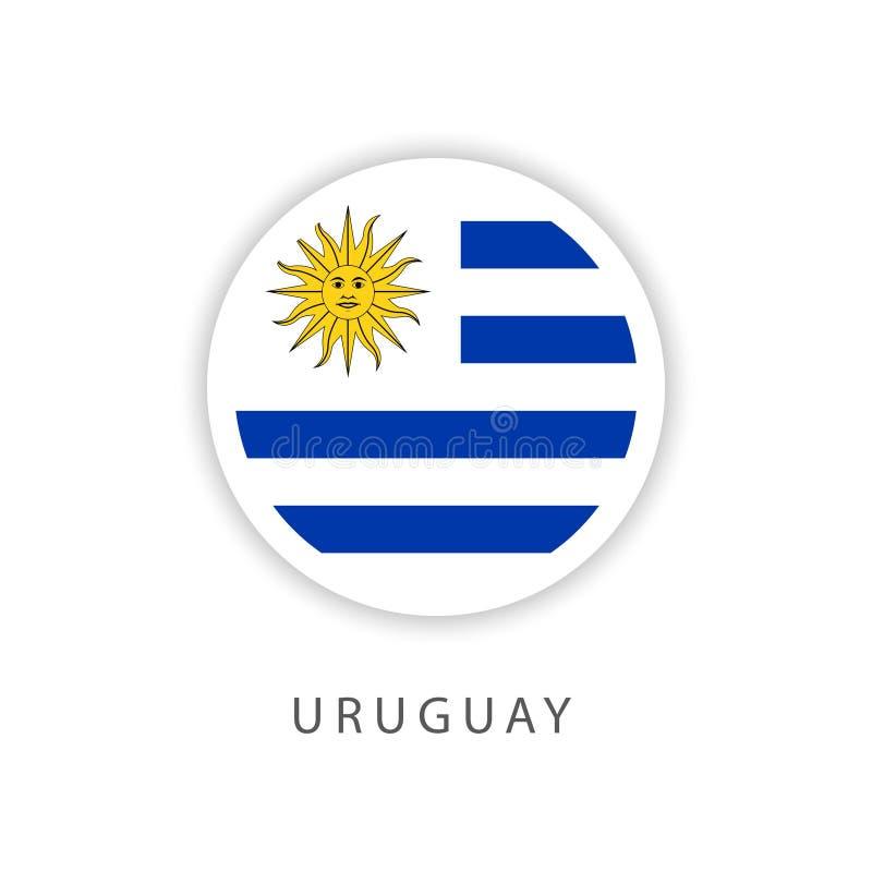Urugwaj guzika flagi szablonu projekta Wektorowy ilustrator ilustracja wektor