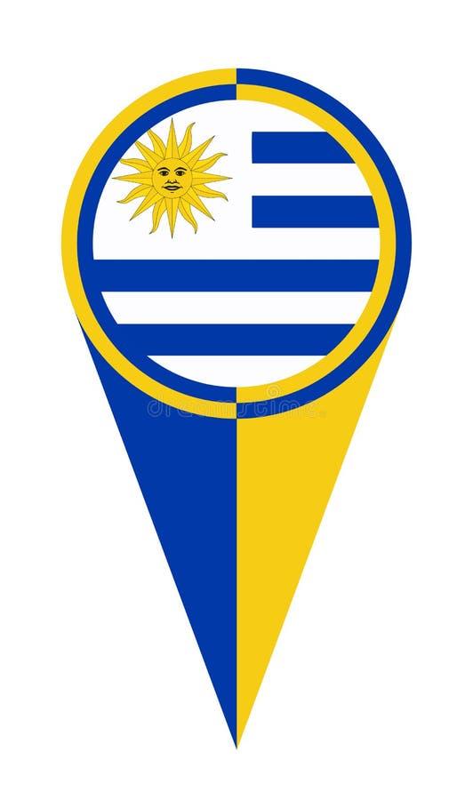 Urugwaj mapy pointeru lokacji flaga ilustracja wektor