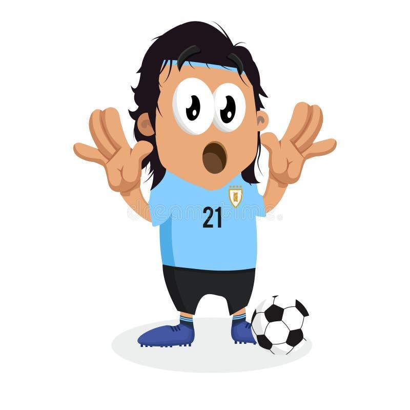 Urugwaj tła i maskotki niespodzianki poza ilustracji