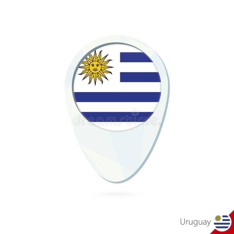 Urugwaj zaznacza lokacji mapy szpilki ikonę na białym tle ilustracja wektor