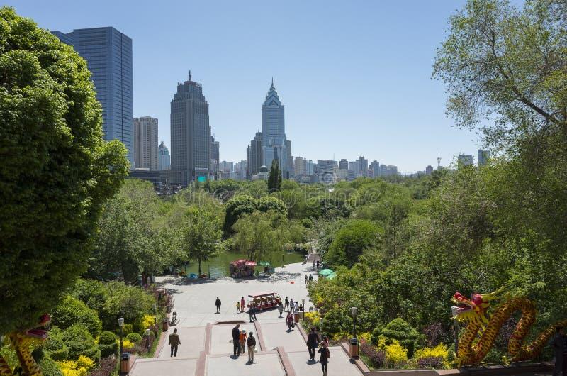 Urumqi miasta widoki obrazy stock