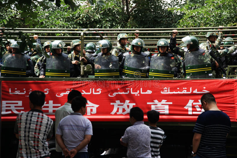 Urumqi Military Meeting about Anti-terrorism royalty free stock image