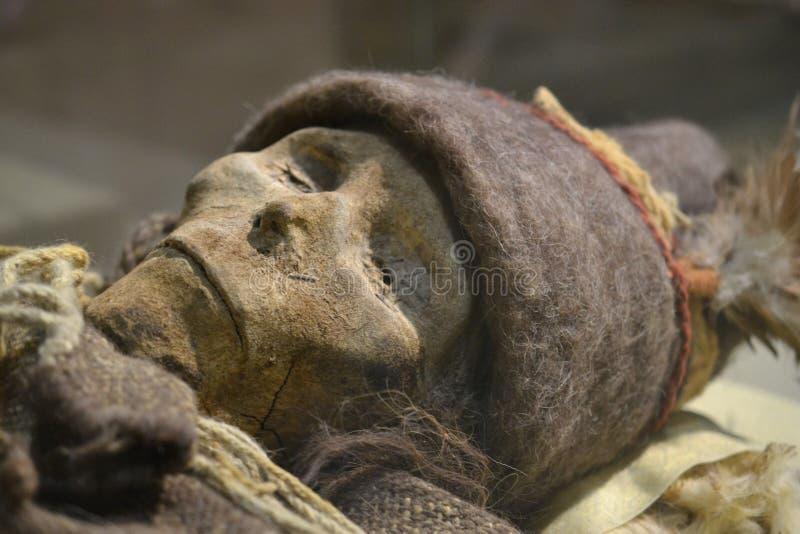 Urumqi, Xinjiang, China - Mummy exhibition in Urumchi, Xinjiang Autonomous Region, China. royalty free stock image