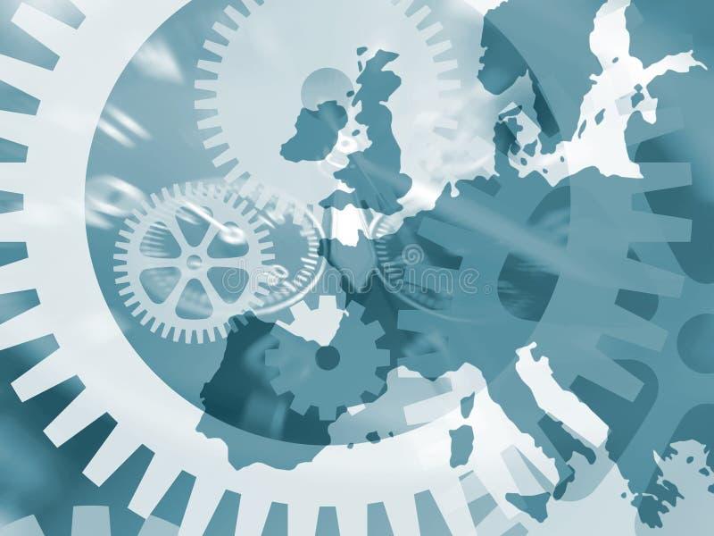 urverk Europa royaltyfri illustrationer