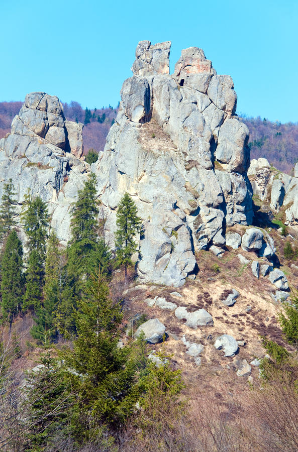 Urych Rocks View Stock Photography