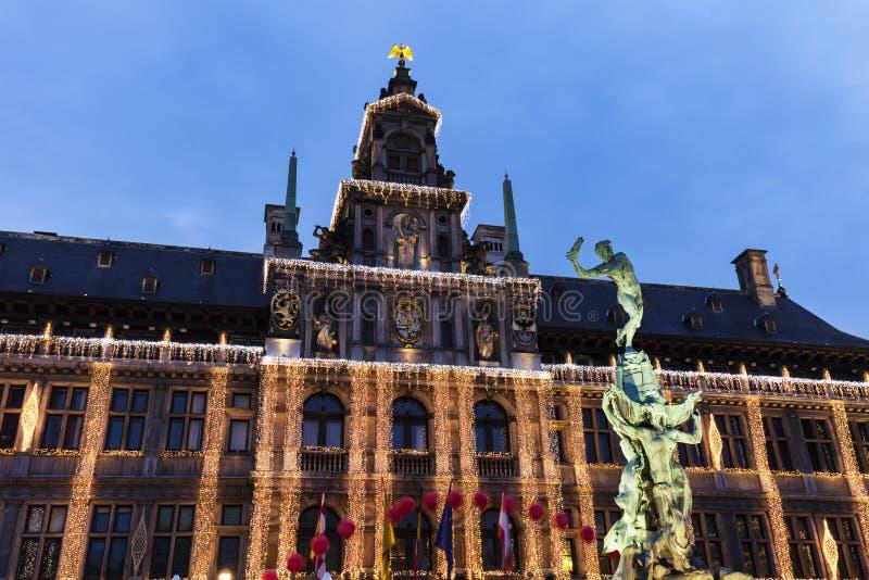 Urząd Miasta Antwerp fotografia royalty free