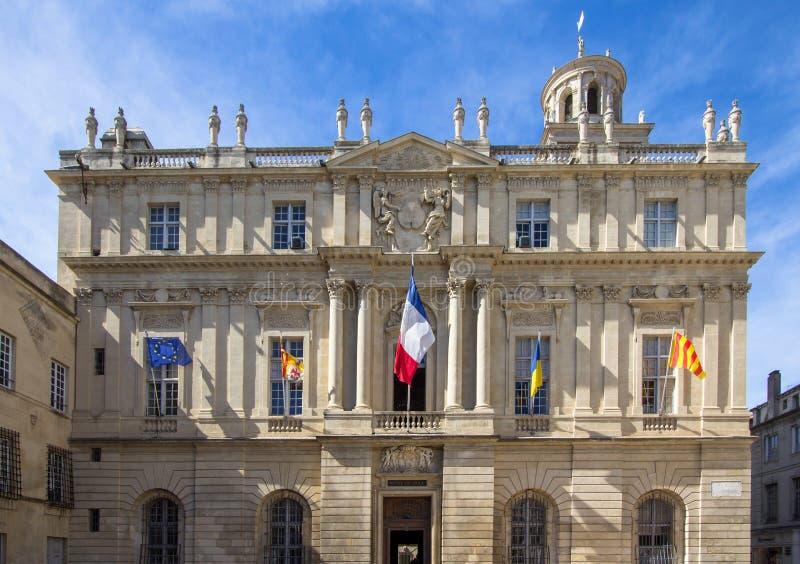 Urząd miasta Arles, Francja fotografia royalty free