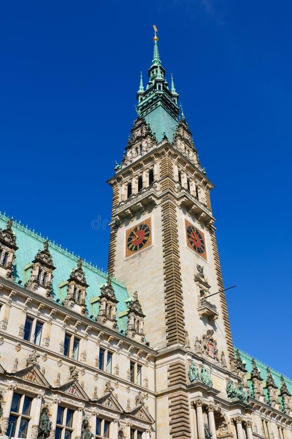 Urząd miasta Hamburg fotografia stock