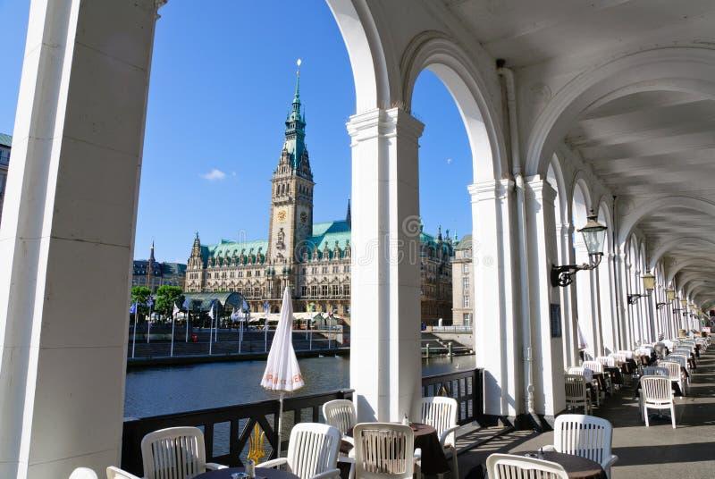 Urząd miasta Hamburg zdjęcia stock