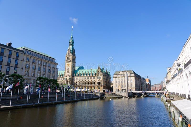 Urząd miasta Hamburg obrazy stock