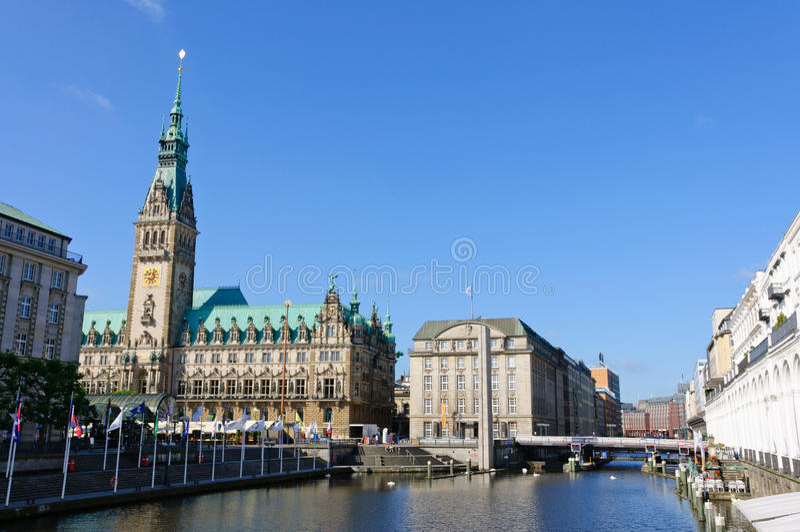 Urząd miasta Hamburg obraz royalty free