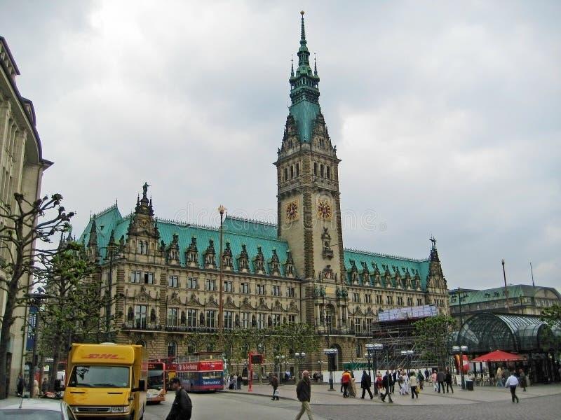 Urząd miasta Hamburg, Niemcy fotografia stock