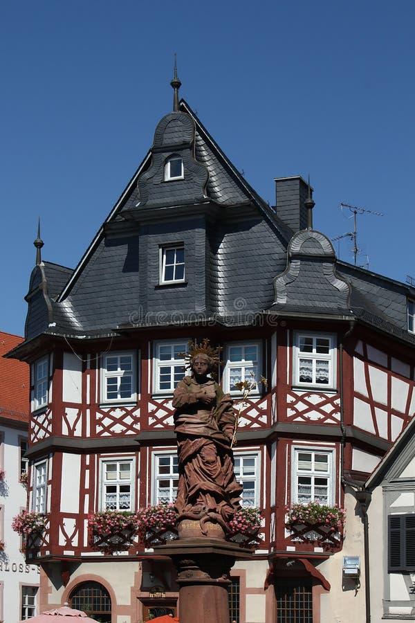urząd miasta heppenheim obraz stock