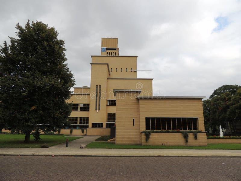 Urząd Miasta Hilversum, holandie, Europa Architekt: W M Dudok zdjęcie royalty free