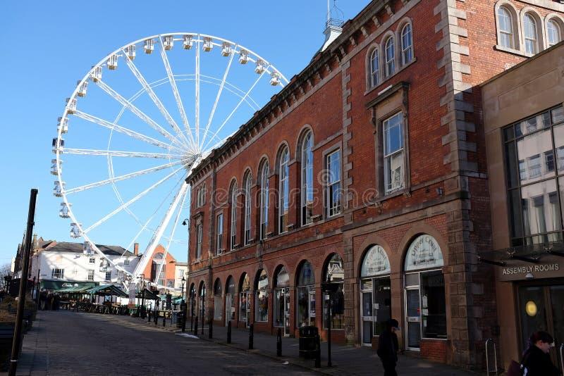 Urząd miasta i Ferris koło, Chesterfield, Derbyshire zdjęcia stock