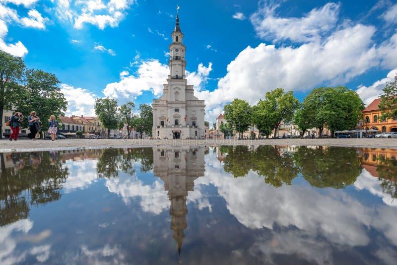 Urząd miasta, Kaunas, Lithuania zdjęcia royalty free