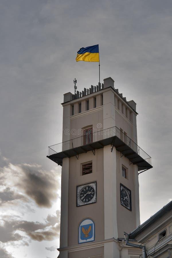 urząd miasta kolomyia Ukraine zdjęcie stock