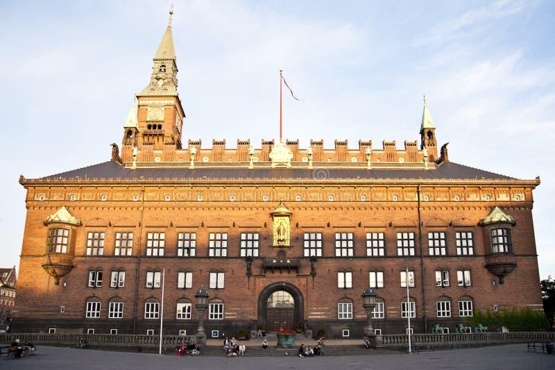 Urząd Miasta, Kopenhaga fotografia royalty free