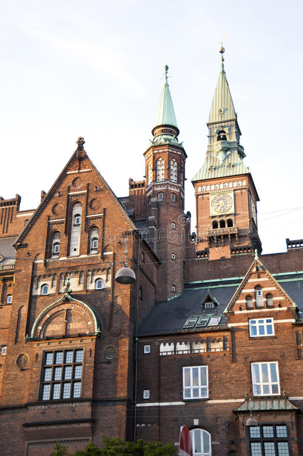 Urząd Miasta, Kopenhaga obraz stock