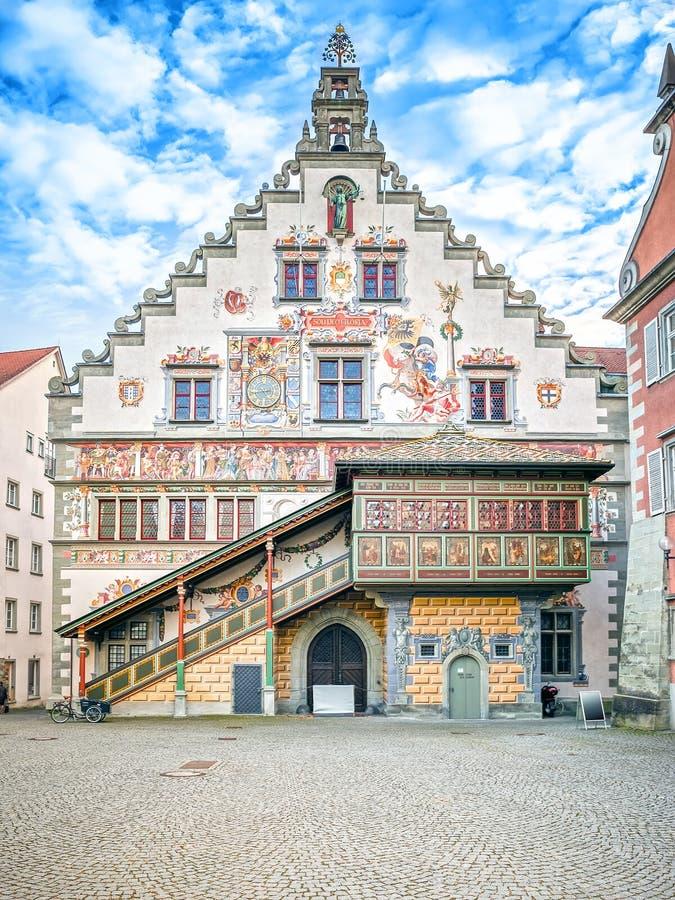 Urząd miasta Lindau Niemcy fotografia stock