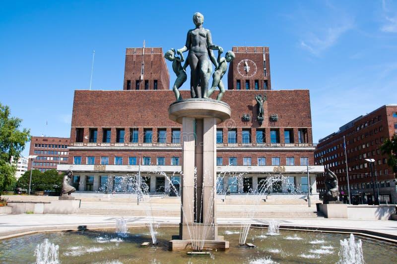 urząd miasta Norway Oslo obraz royalty free