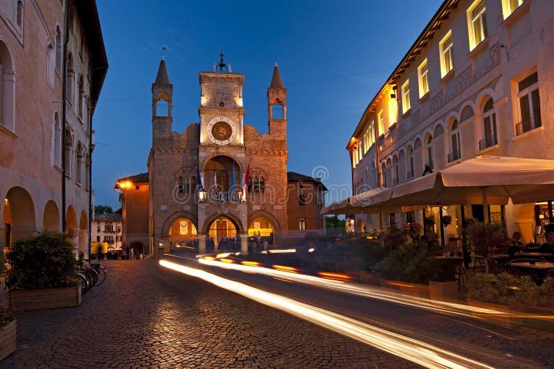 Urząd miasta Pordenone, Włochy symbol miasto zdjęcie royalty free
