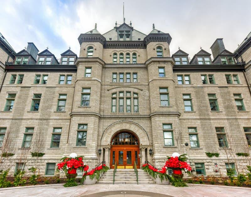 Urząd Miasta Quebec miasto fotografia royalty free