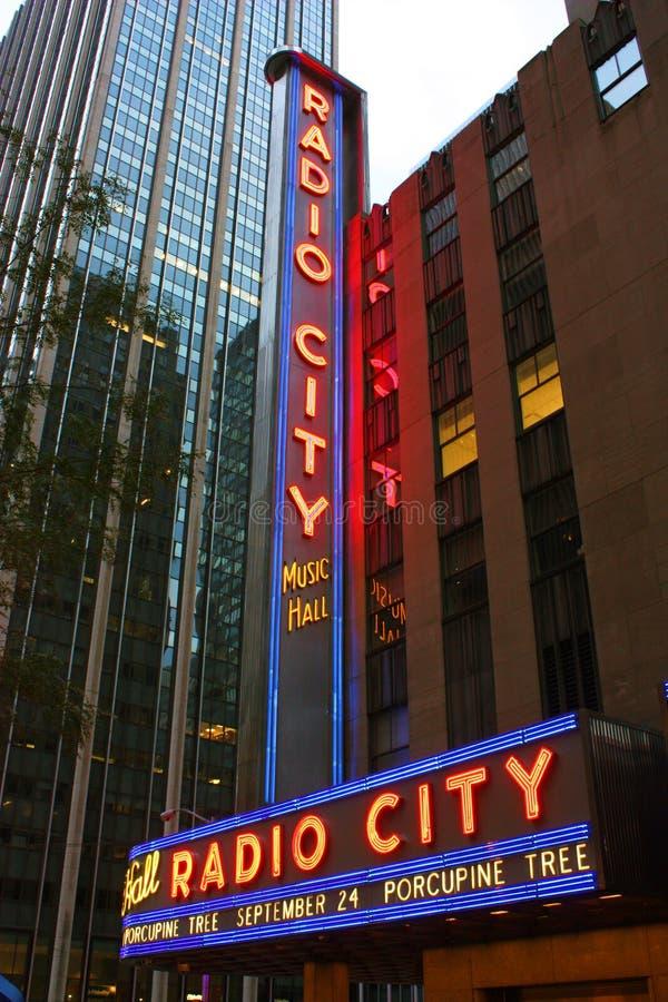 urząd miasta radio muzyczny nowy York zdjęcie stock