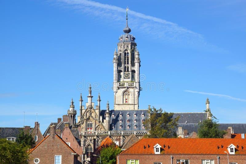 Urząd Miasta Stadhuis, Middelburg zdjęcia stock