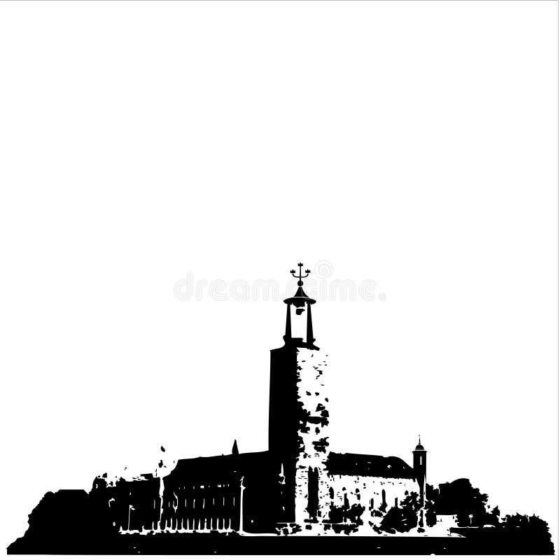 urząd miasta Stockholm royalty ilustracja