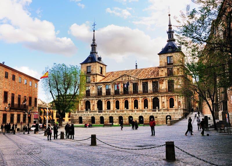 Urząd Miasta Toledo, Hiszpania obrazy royalty free