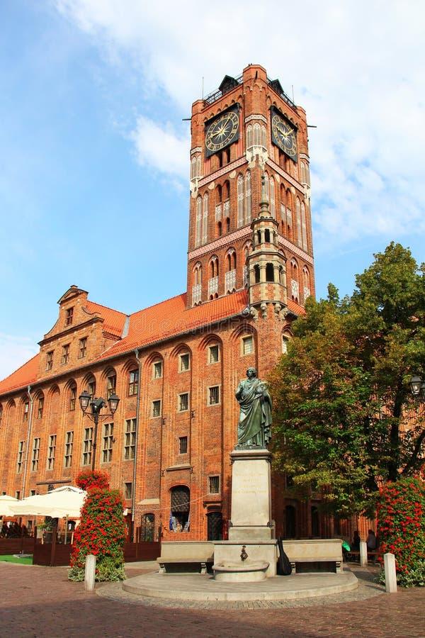 Urząd miasta, Toruński stary miasteczko, Polska zdjęcie stock