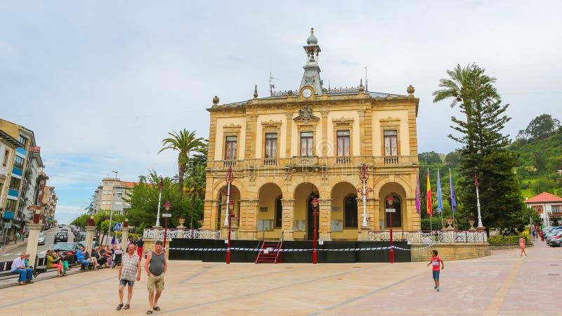 Urząd Miasta Villaviciosa, Asturias zdjęcie stock