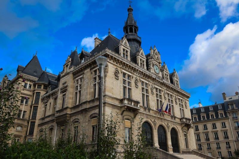 Urząd miasta Vincennes miasto wschód Paryż, Francja fotografia stock