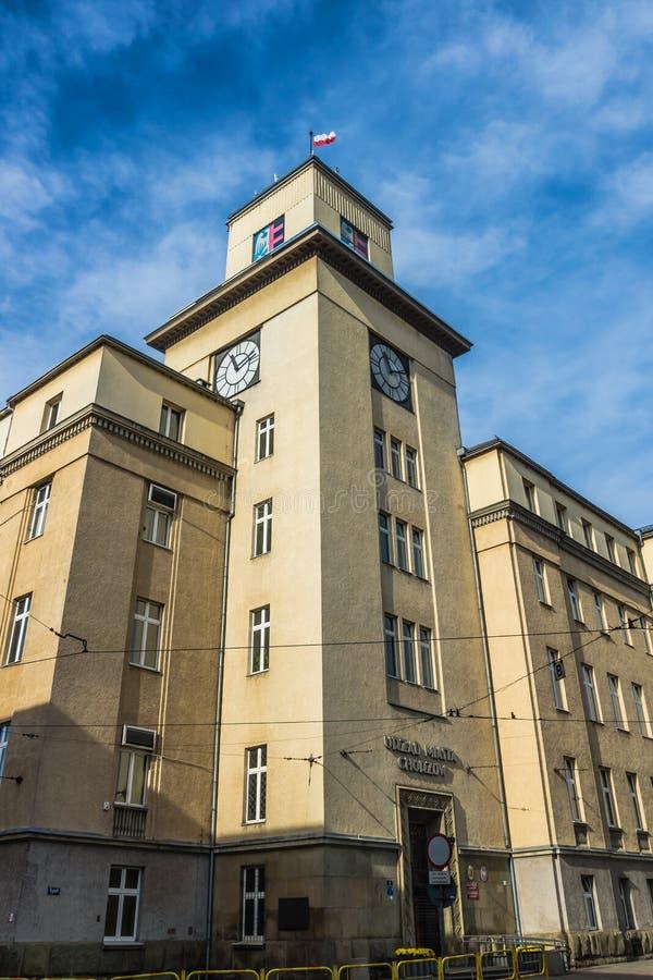 Urząd Miasta w Chorzow obraz stock