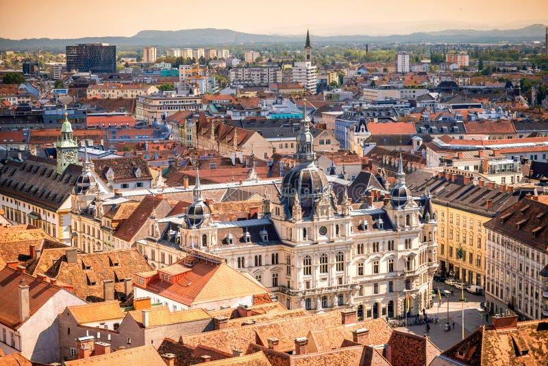 Urząd miasta w Graz mieście zdjęcia stock