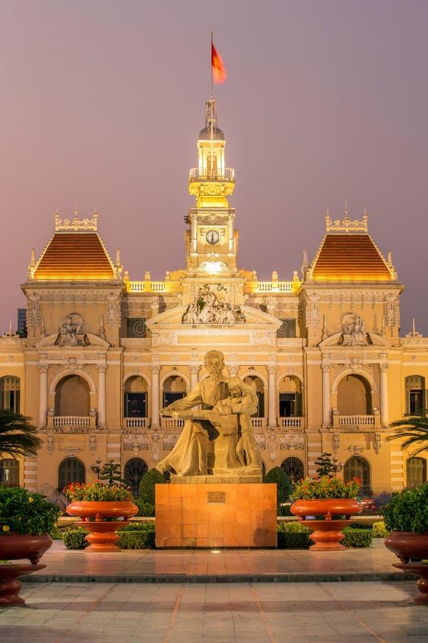 Urząd miasta w Ho Chi Minh mieście, Wietnam fotografia royalty free