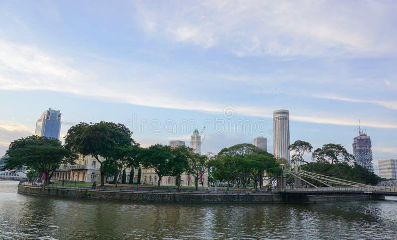 Urząd Miasta z parkiem w Singapur obraz royalty free