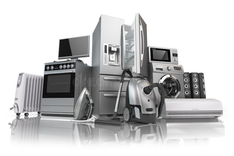 urządzeń projekta domu ikon kuchenny set twój Set gospodarstw domowych kuchenni technics odizolowywający na w ilustracji