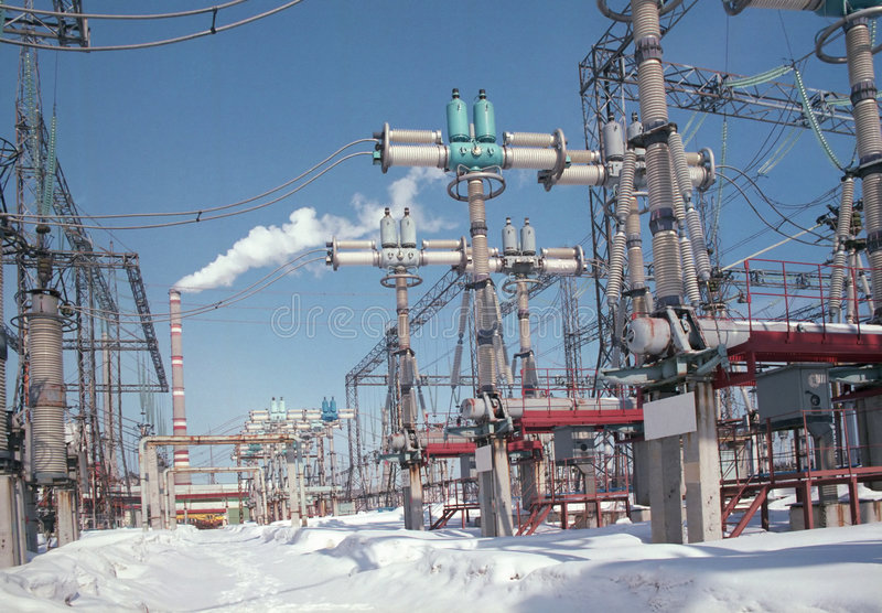 urządzenia dla dystrybucji energii elektrycznej ilustracja wektor