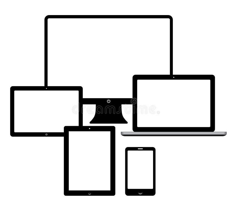 Urządzenia elektroniczne ilustracja wektor