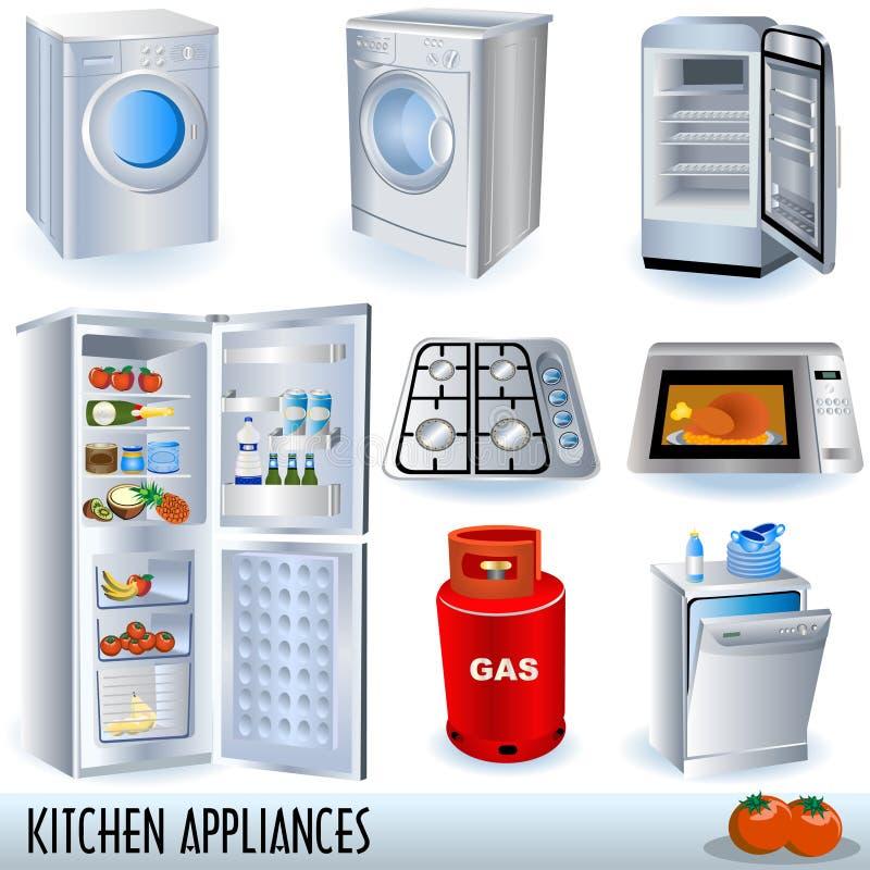 urządzenia kuchenni ilustracji