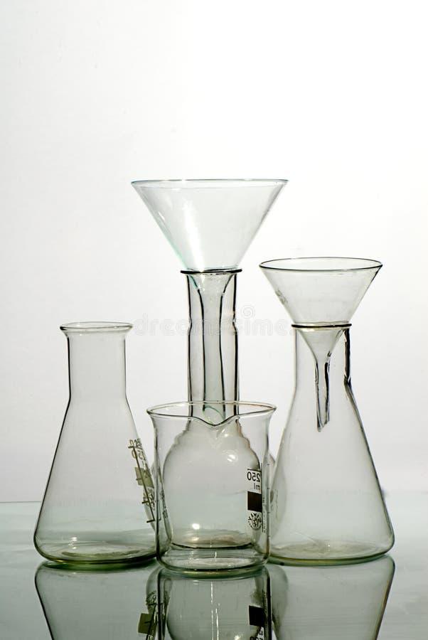 urządzenia laboratorium szkła zdjęcie stock