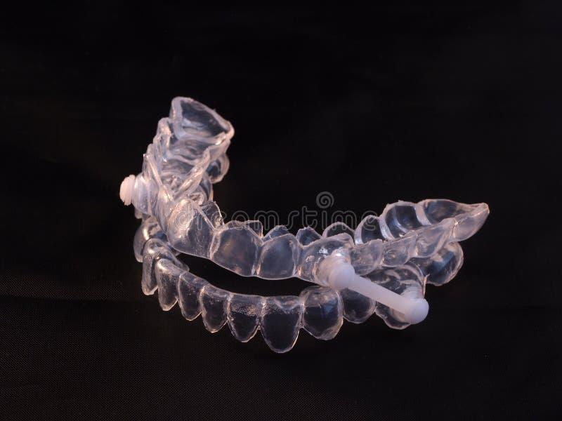 Urządzenie dla zarządzania szczęki podczas obstrukcyjnego sen apnea fotografia royalty free