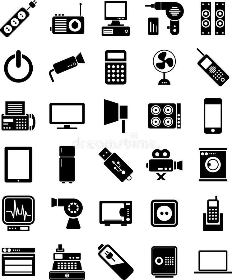 Urządzenie elektroniczne ikony royalty ilustracja